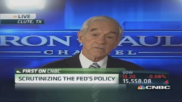 Ron Paul: Scrutinizing the Fed's policy