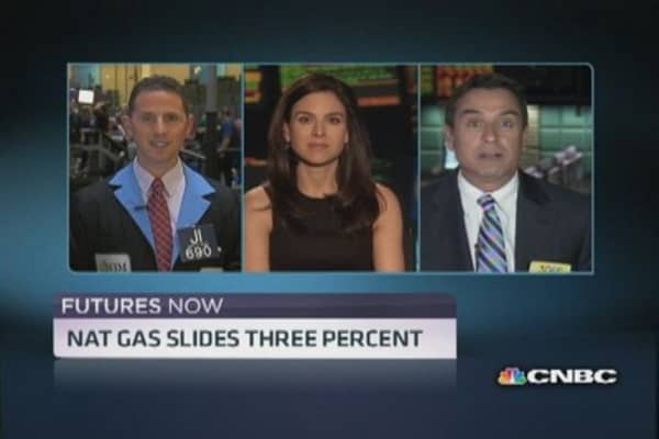 Traders cool on natural gas