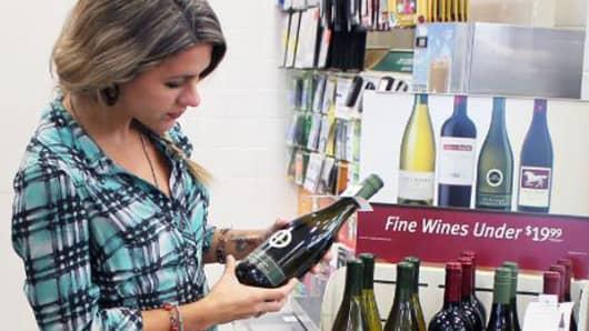 Wine in 7-Eleven store