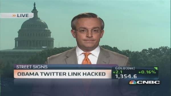 Obama Twitter link hacked