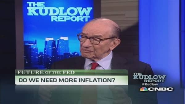 Greenspan: Raising inflation rate 'very risky'