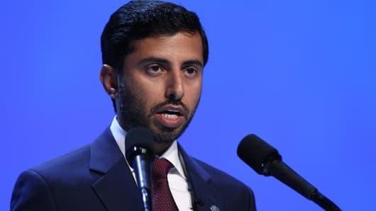 United Arab Emirates' energy minister Suhail Mohammed Al Mazrouei