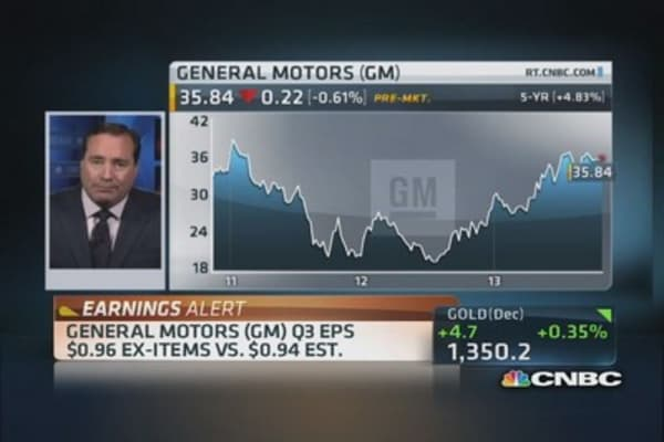 GM earnings better-than-expected