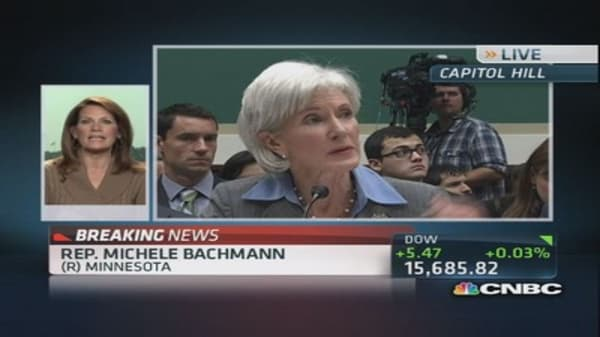Rep. Bachmann: Sebelius should be fired