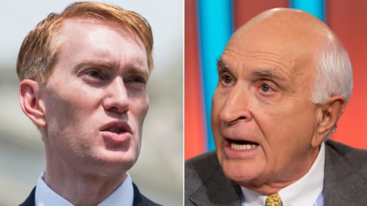 Rep. James Lankford, R-Okla and Ken Langone.