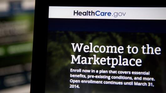 Healthcare.gov website homepage.
