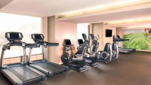 The Westin Detroit Metropolitan Airport gym.