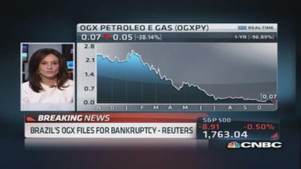 Brazil's OGX files for bankruptcy