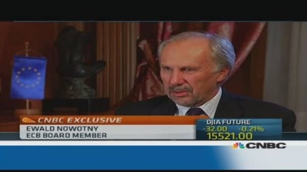 EM reaction to tapering was 'overblown': ECB's Nowotny