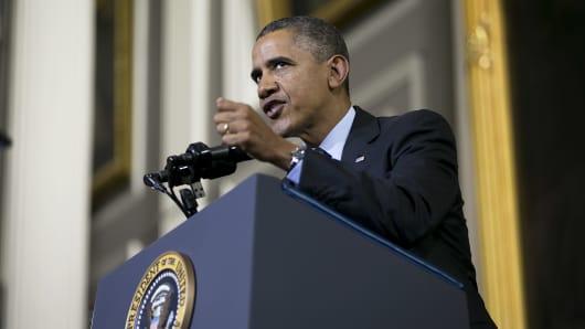 President Obama speaks in Boston to bolster support for Obamacare.