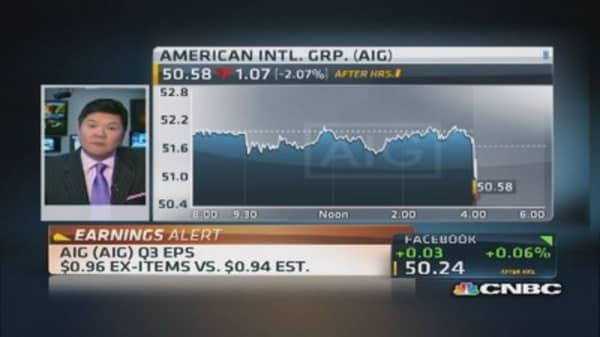 AIG reports Q3 earnings