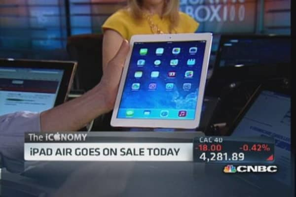 Apple's iPad Air: Thinnest, lightest tablet yet