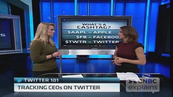 Track biz news with Twitter