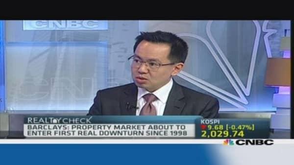 Hong Kong property to enter downturn: Barclays