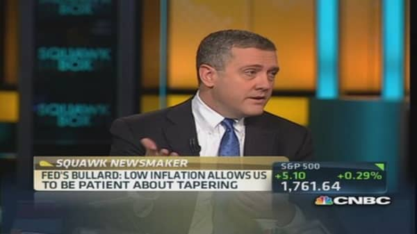 Low inflation allows Fed to be patient: Bullard
