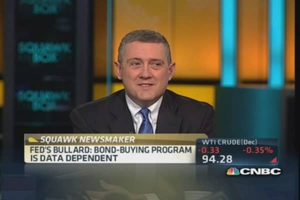 QE conventional monetary policy: Bullard