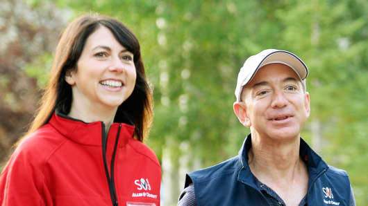Jeff Bezos, founder and CEO Amazon.com, and his wife Mackenzie Bezos.