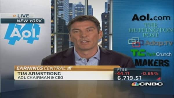AOL earnings strong: Armstrong