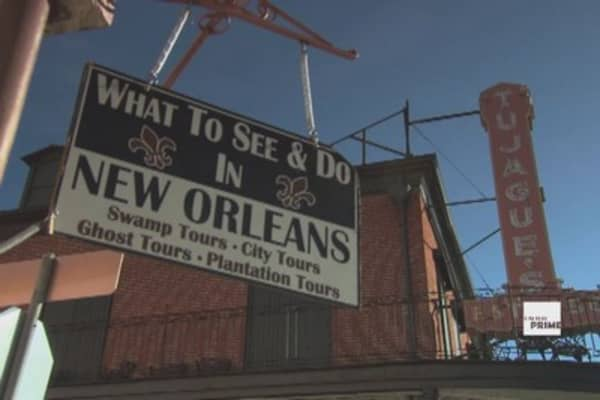 Driving through New Orleans