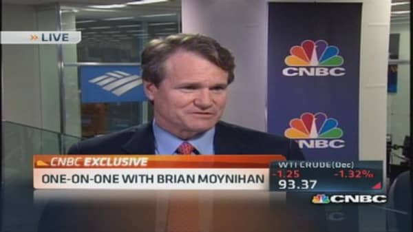 BofA's Moynihan: American consumer is healthier