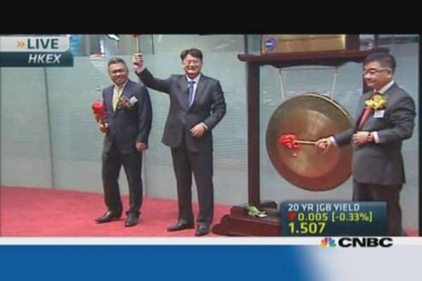 Hong Kong exchange receives three debutantes