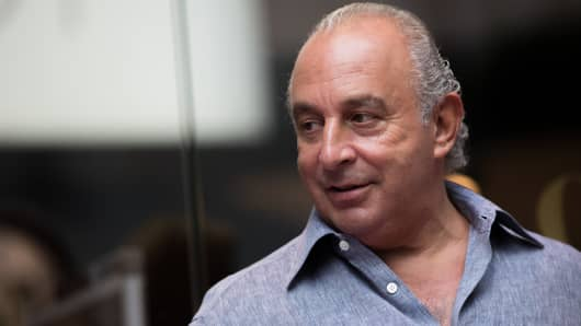 Billionaire Philip Green, owner of Arcadia Group