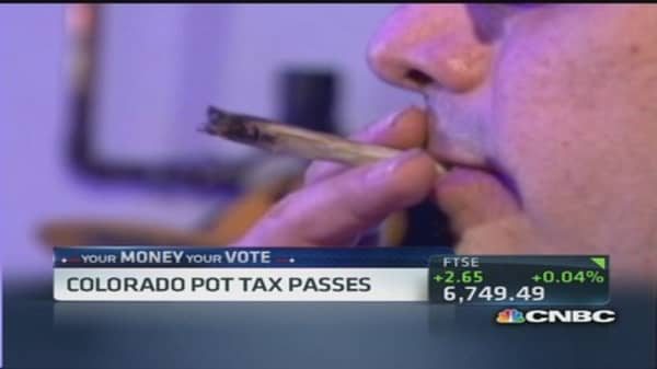 Colorado to tax pot for recreational use
