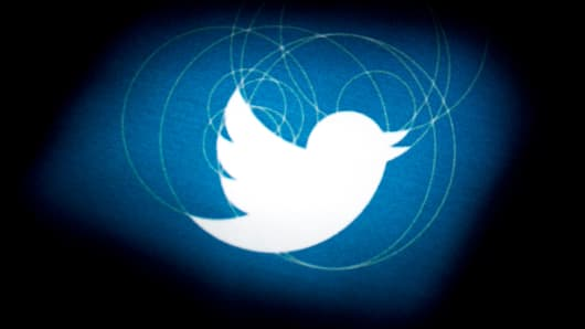 The Twitter logo is displayed on the company's preliminary prospectus.