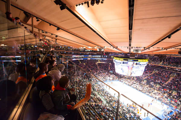 Seating at the newly renovated Madison Square Garden.