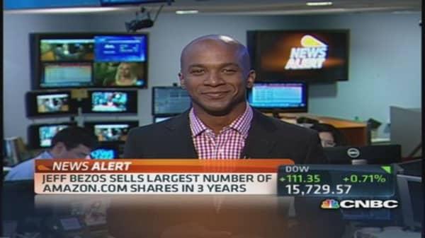 Amazon's Bezos sold $1 million shares in Q3