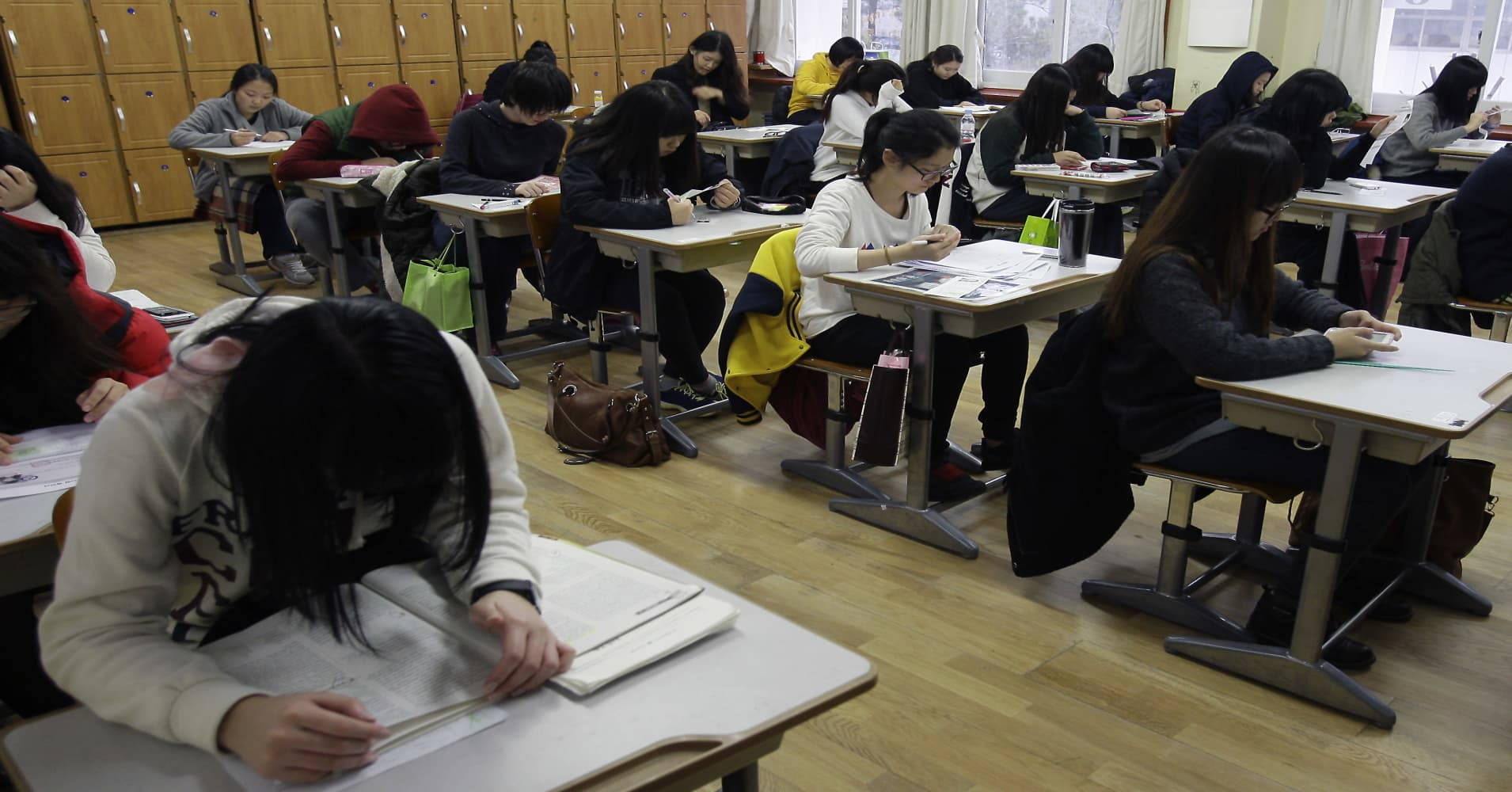 Life-changing college exam puts South Korea on hold