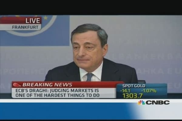 CNBC to Draghi: Is this the bazooka?