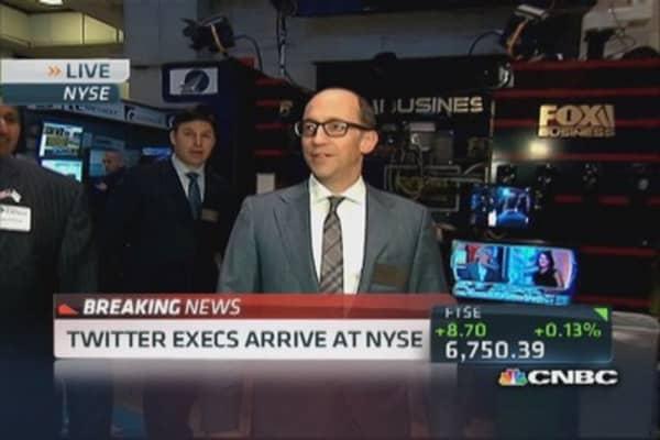 Twitter execs arrive at NYSE