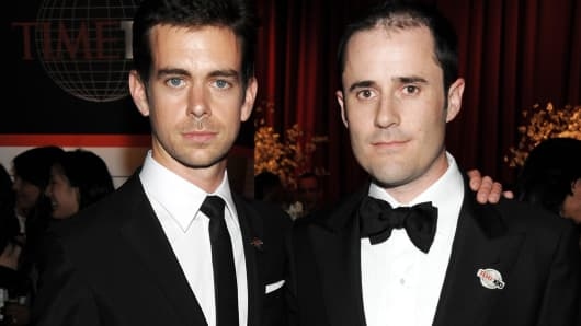 (L-R) Jack Dorsey and Evan Williams