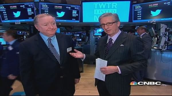 Cashin says: Nobody rings a bell at the top