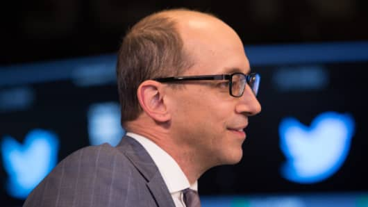 Twitter CEO Dick Costolo at the NYSE for the Twitter IPO launch.
