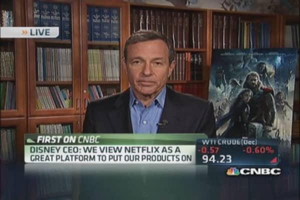 View Netflix as viable platform: Disney's CEO