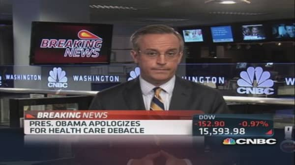 Obama apologizes for health care debacle