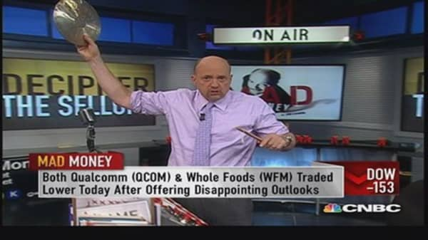 Don't cut and run, stop and evaluate: Cramer