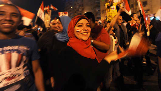 Change is in the air: demonstrations in Cairo's Tahrir Square