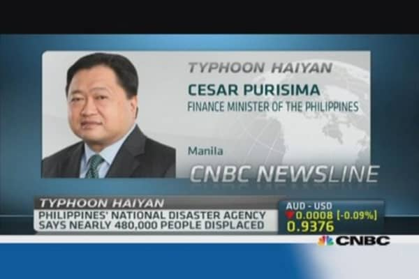 Philippines finance minister: Haiyan will hit GDP