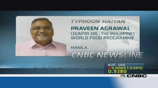 Relief efforts in typhoon Haiyan aftermath