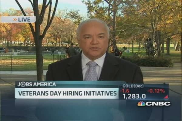 Veterans Day hiring initiatives
