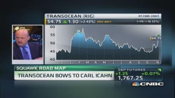 Transocean bows to Icahn