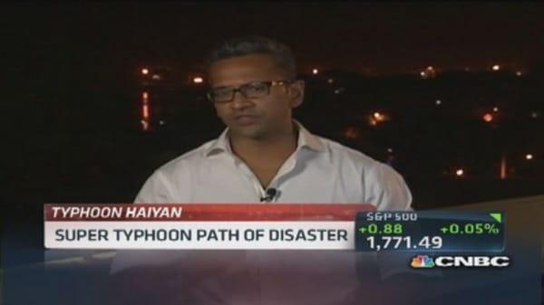 Typhoon devastation