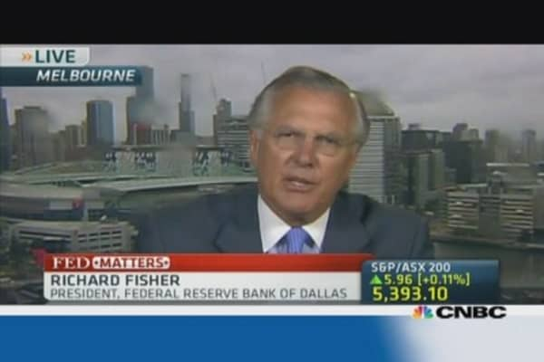 Dallas Fed chief Fisher: 'We will have to taper soon'
