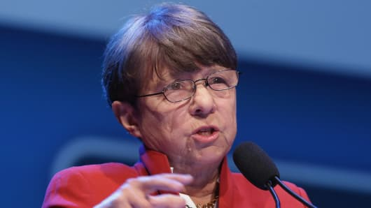U.S. Securities and Exchange Commission Chairman Mary Jo White.