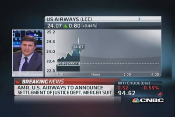 AMR, US Airways announce settlement