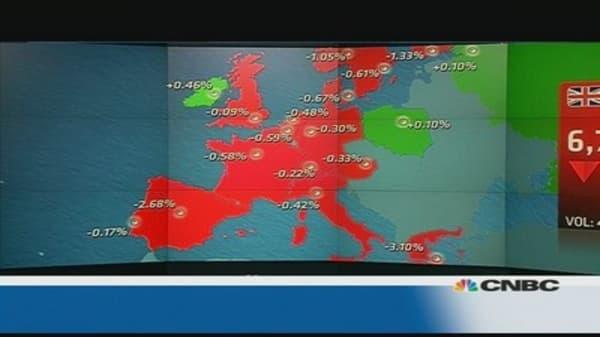 European market closes down