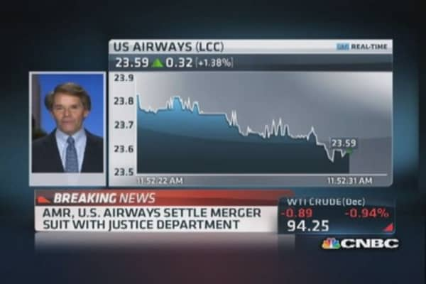 Virgin America CEO on AMR, US Airways settlement
